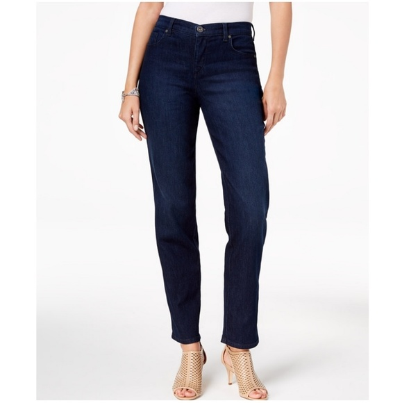Style & Co Denim - STYLE & CO high rise straight-leg jeans